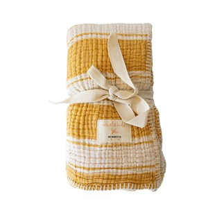 Marshmallow Battaniye - Blocked Stripes (Honey Gold)
